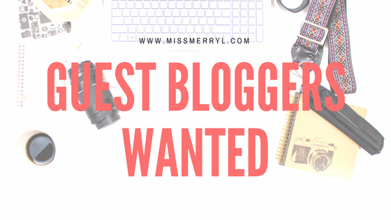 Want to be a guest blogger?