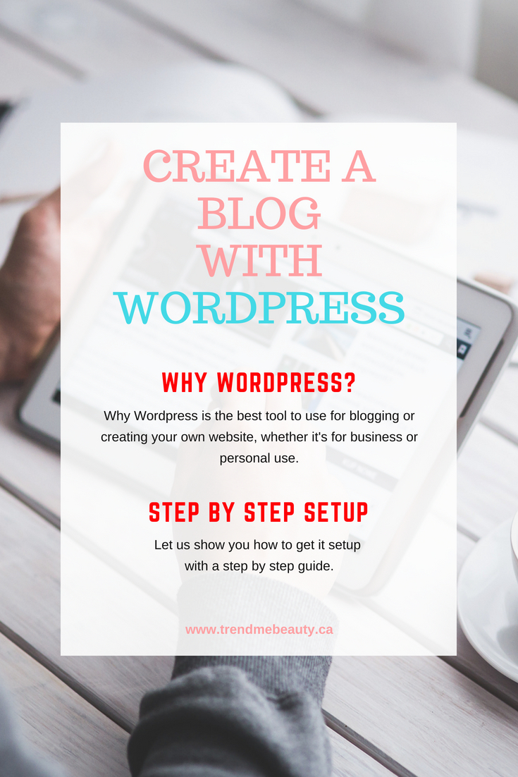 Step by step instructions on how to create a blog with WordPress